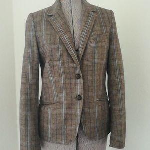 H&M plaid fall jacket/ blazer